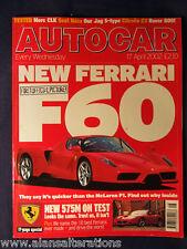 AUTOCAR Magazine 17th April 2002 Ferrari F60