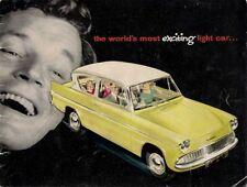 Ford Anglia 105E 1959-60 UK Market Sales Brochure Standard De Luxe Saloon