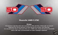 SUZUKI LT50 1985 GAS FUEL TANK DECALS GRAPHICS SET