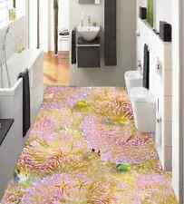 3D Bel Corail Fond d'écran étage Peint en Autocollant Murale Plafond Chambre Art