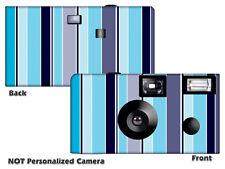 5 Linen Stripes Disposable Cameras-wedding camera/anniversary