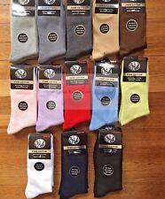 12 Pairs 2-8 Premium Quality Pure Cotton Plain School Socks Dress/Work Socks