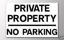 1 pas de propriété privée parking 3mm rigide signe