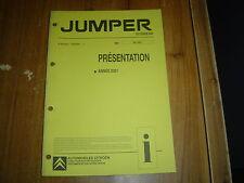 DOCUMENT CITROËN JUMPER PRESENTATION ANNEE 2001 24 PAGES