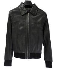 Veste en cuir S.PARIEN taille S femme fille manteau agneau leather jacket NEUF