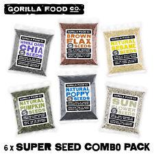 Gorilla Food Co. Seeds Mixed Combo (Chia,Flax,Sesame,Pumpkin,Poppy,Sunflower)