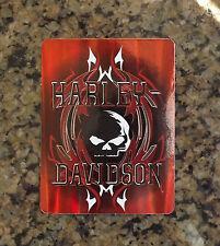 New Harley Davidson Licensed Decal Biker Motorcycle Tank Sticker Skull Art Red