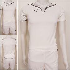 Puma Kinder Trikot & Short Set Fußball Sport Shirt Hose weiß 116 - 176 NEU E11