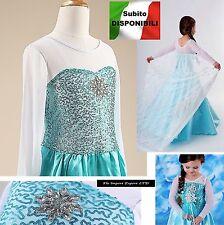 Frozen Vestito Carnevale Elsa 2-12 anni - Dress up Elsa Cosplay Costumes 789006