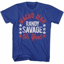 Macho Man Randy Savage Oh Yeah Stars Mens Blue T-shirt