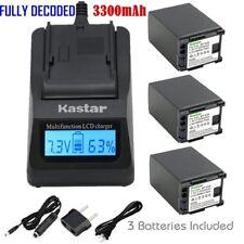 BP-828 Battery & Fast Charger for Canon FS200 FS300 FS400 XA10 XA20 XA25 XA30