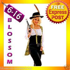 F98 Ladies Pirates Of The Caribbean Angelica Fancy Dress Halloween Costume & Hat