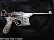 ORNATE DRAGON REPLICA MAUSER C96 PISTOL MACHINE GUN KEYRING COLLECTOR UK SELLER