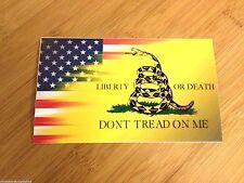 Don't Tread on Me American Flag Gadsden sticker decal patriot 1776 revolution