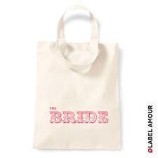 Favour Keepsake Gift Canvas Tote Bag | Wedding Hen Party Bride Bridesmaid Mother
