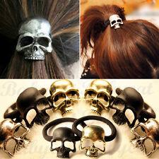 1 xTotenkopf Gothic Punk Haargummi Haarband Zopfgummi Haarschmuck Schädel HB01