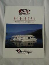 1998 WATERWAY Houseboat House Boat Catalog
