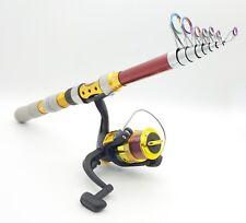 Telescopic Fishing Rod & Reel Combo Spinning Fishing Reel All Fresh / Salt water
