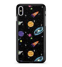 Colorido espacio Planetas Galaxy 2D Sistema Solar patrón Ovni Cubierta Estuche Teléfono