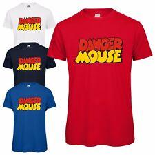 Danger Mouse ® Logo para hombre Camiseta-oficialmente licenciado Top Camiseta Icono De Dibujos Animados Retro