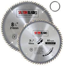 Saxton Circular Wood Saw Blades 185mm 210mm fits Evolution Rage Saws 25.4mm Ring