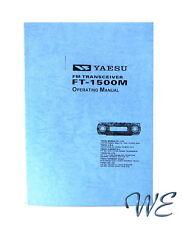 NEW Yaesu FT-1500M Operating Manual Book in English