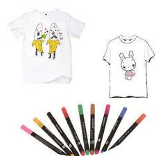 10 Colors Permanent Fabric Paint Pen T-Shirt Liner Marker Textile Shoes DIY Tool