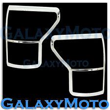 10-12 Toyota Tundra CrewMax Chrome Taillight Tail Light Trim Bezel Cover kit set
