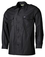 MFH US Langarmhemd Herrenhemd Freizeithemd Hemd Langarm Schwarz S-XXL