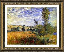 FRAMED Poster Landscape Vetheuil Claude Monet Oil Paintings Prints Frame