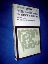 MAURICE LEROY Profilo storico della linguistica moderna