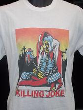 Killing Joke - Empire Chanson 1982 Design Rétro Blanc Double Face T Shirt - NEUF