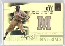 2002 Topps Tribute Milestone Materials #MIM-MO Mel Ott San Francisco Giants Card