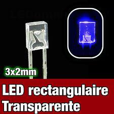 325UV/100# LED rectangulaire 3x2 UV 100pcs - Rectangular LED ultra-violet