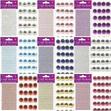 Sheet Self Adhesive Craft Diamante Rhinestone Gems Stick on Crystals Sticker Row