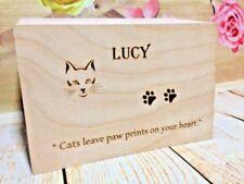 Personalised Pet ceneri BARA Urna Ricordo Scatola Memorial CASE Cane Gatto Criceto