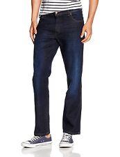 Wrangler New Mens Texas Stretch Regular Fit Jeans Dark Thinkerbell Blue Denim