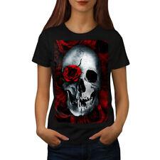 Skulls Rose Flower Women T-shirt S-2XL NEW   Wellcoda