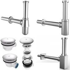 Design Siphon Sifon Edelstahl Ablaufventil Ablaufgarnitur Geruchsverschluss NEU
