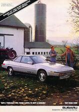 1987 Subaru Turbo XT - Farm - Classic Vintage Advertisement Ad D74