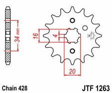 F126316: JT SPROCKETS Piñon JT 1263 de acero con 16 dientes