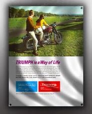 VINTAGE TRIUMPH MOTORCYCLE BANNER