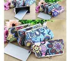 Tasche Geldbörse Clutch Blumen bunt Tasche mini gemustert Kosmetiktasche klein
