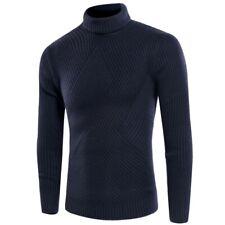 Men's Turtleneck Sweater Thick Warm Winter Pullover Knitwear Slim Fit Jumper New