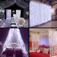UK 300 Led Curtain Fairy Lights Wedding Indoor Outdoor Garden Party Decor Lamp