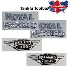 Royal Enfield Bullet 350 Petrol Gas Tank Toolbox Sticker Gold Silver 3D
