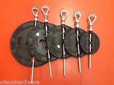 "Cast Iron Stove Pipe Damper Single Wall Wood Coal Flue 3"" 4"" 5"" 6"" 7"" 8"" Choice"