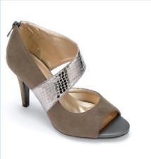 Madelyn Mixed Media Dress Formal Heel by Monroe & Main Gray Grey Pumps Church 9W
