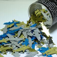 Tabletop Shark Blue Gold Silver mix confetti Bag 1/2 Oz Free Shipping CCP8218