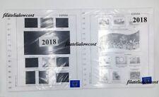España Hojas Para Sellos 2018 Granfil Completo Suplemento Blanco O Negro Nuevo